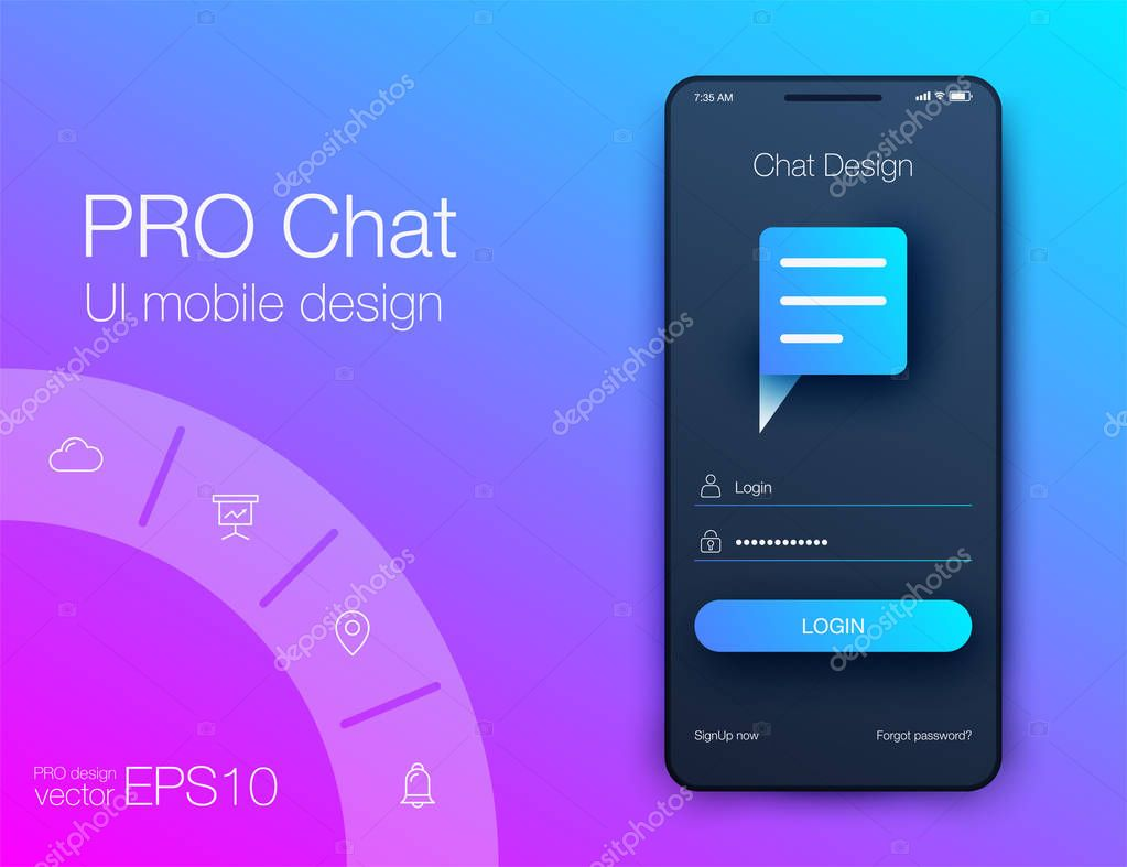 Vector Illustration of screens and web concept