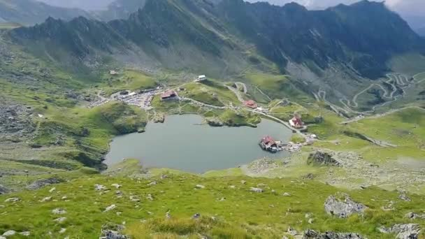 Magical view to Fagaras Mountains and Balea Lake at daylight. Romania beauties