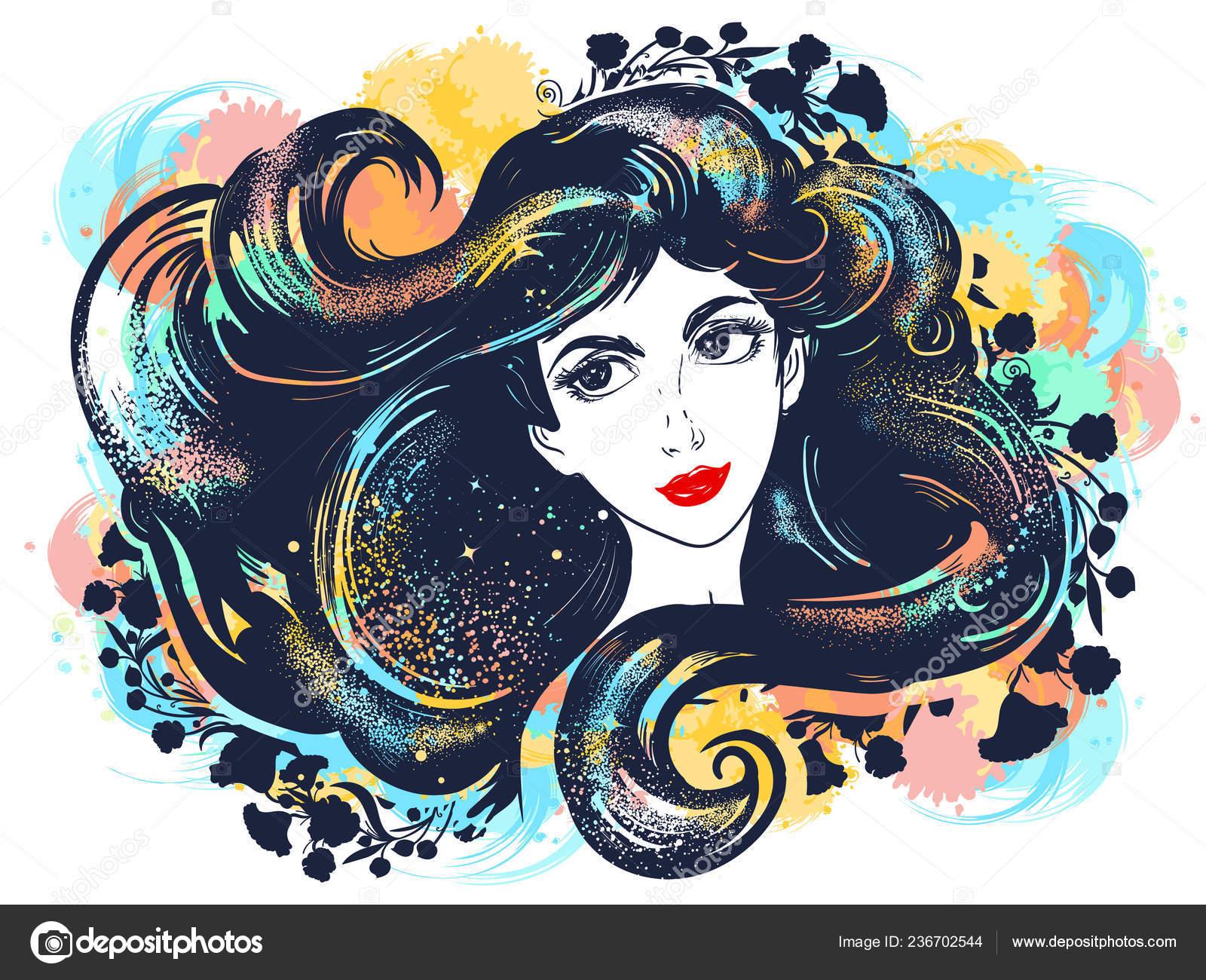 Beauty hair Salon Free Style Brunette  Poster