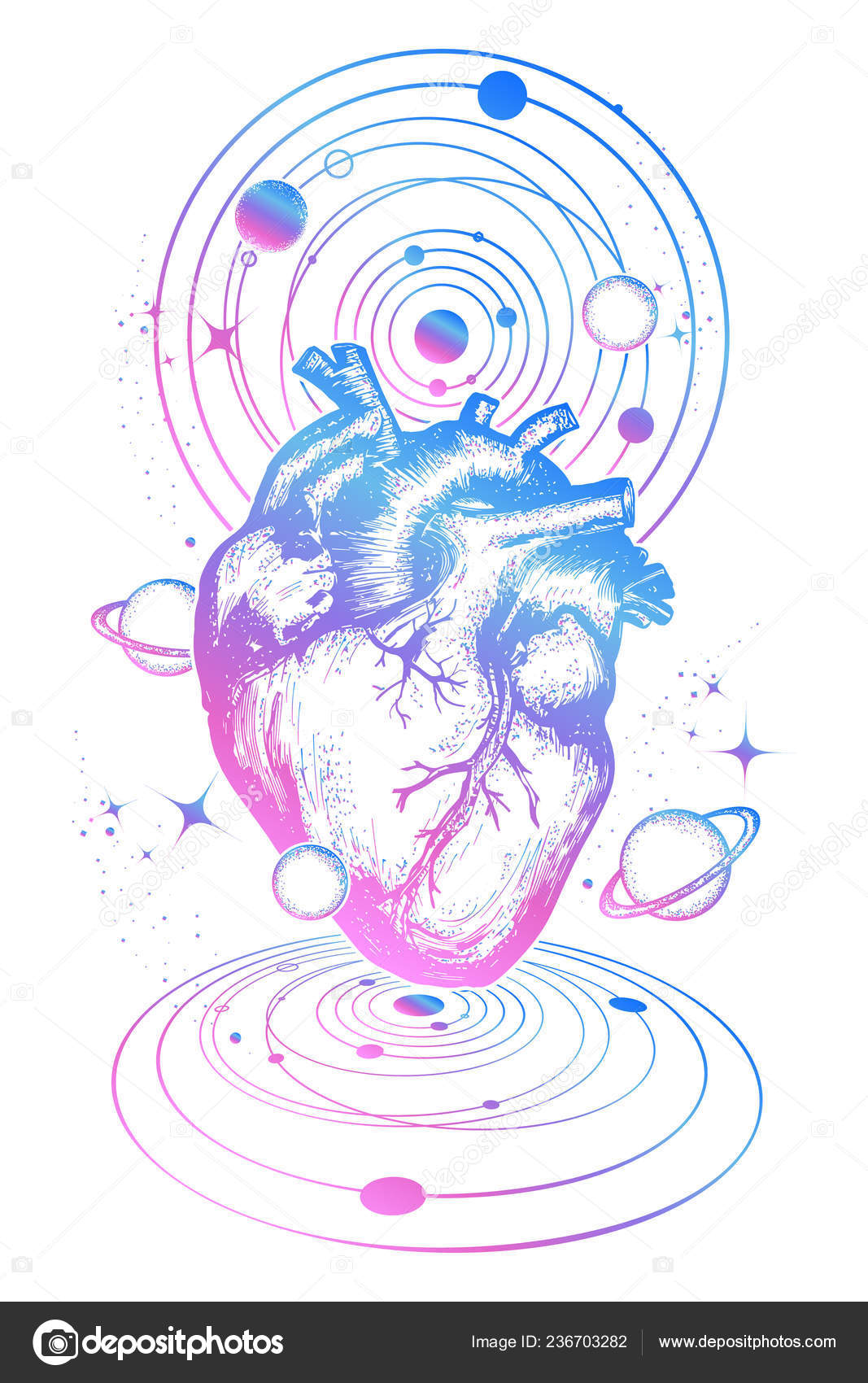 Magic Heart Space Tattoo Symbol Love Philosophy Psychology