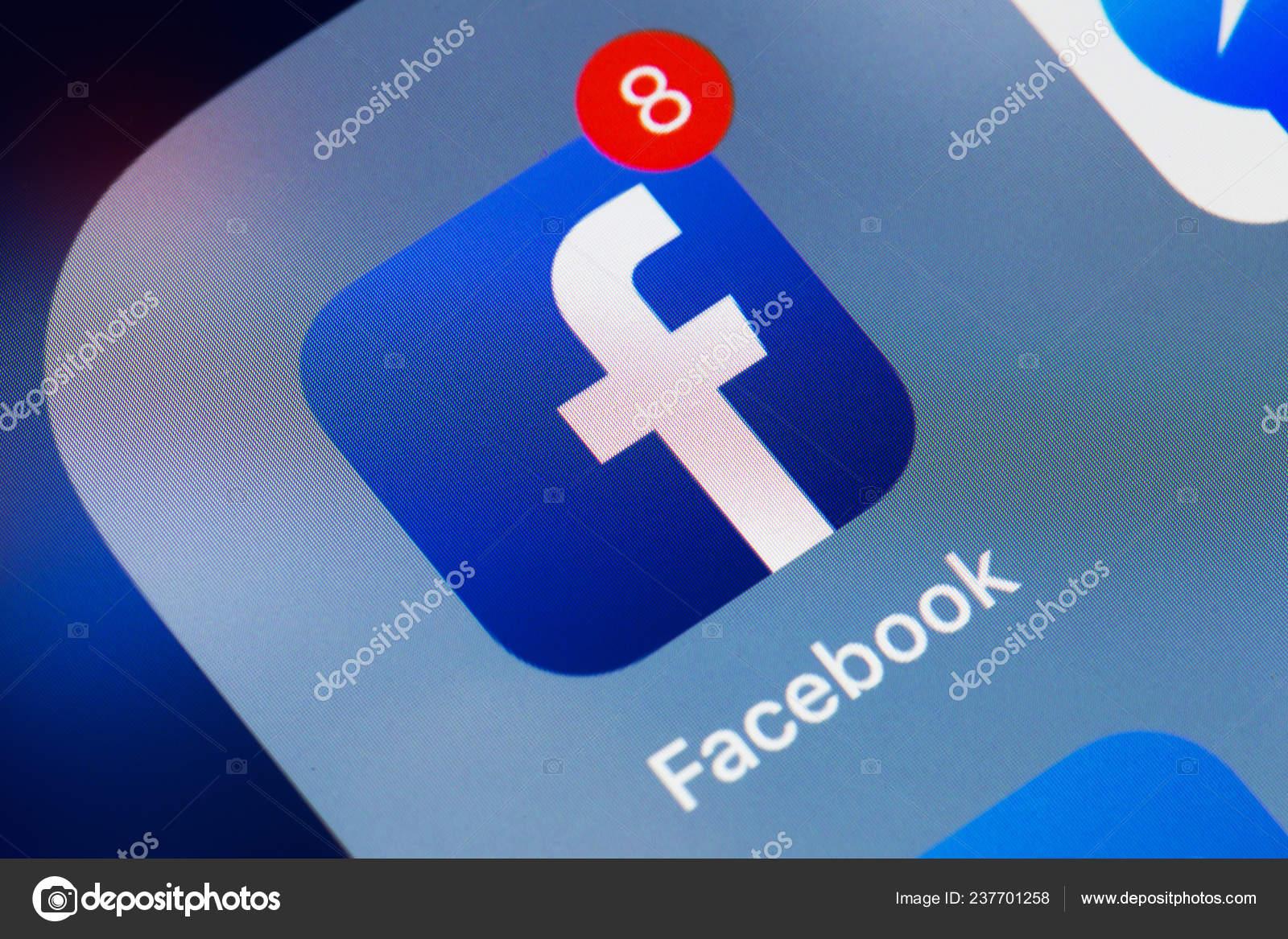 New York Usa December 2018 Facebook Application Icon