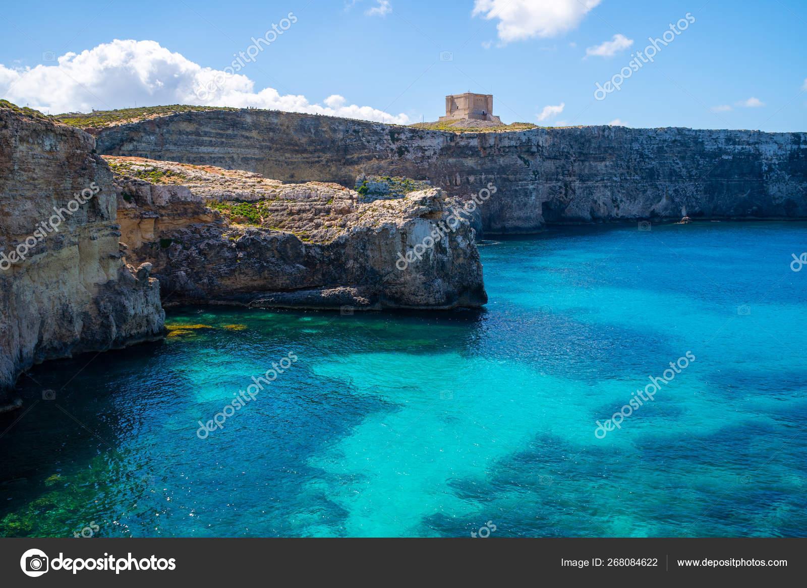 Malta seashore  Crystal lagoon  — Stock Photo © alex_ugalek #268084622