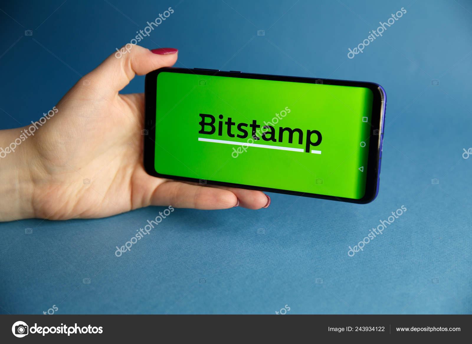 Tula, Russia - JANUARY 29, 2019: Bitstamp cryptocurrency exchange