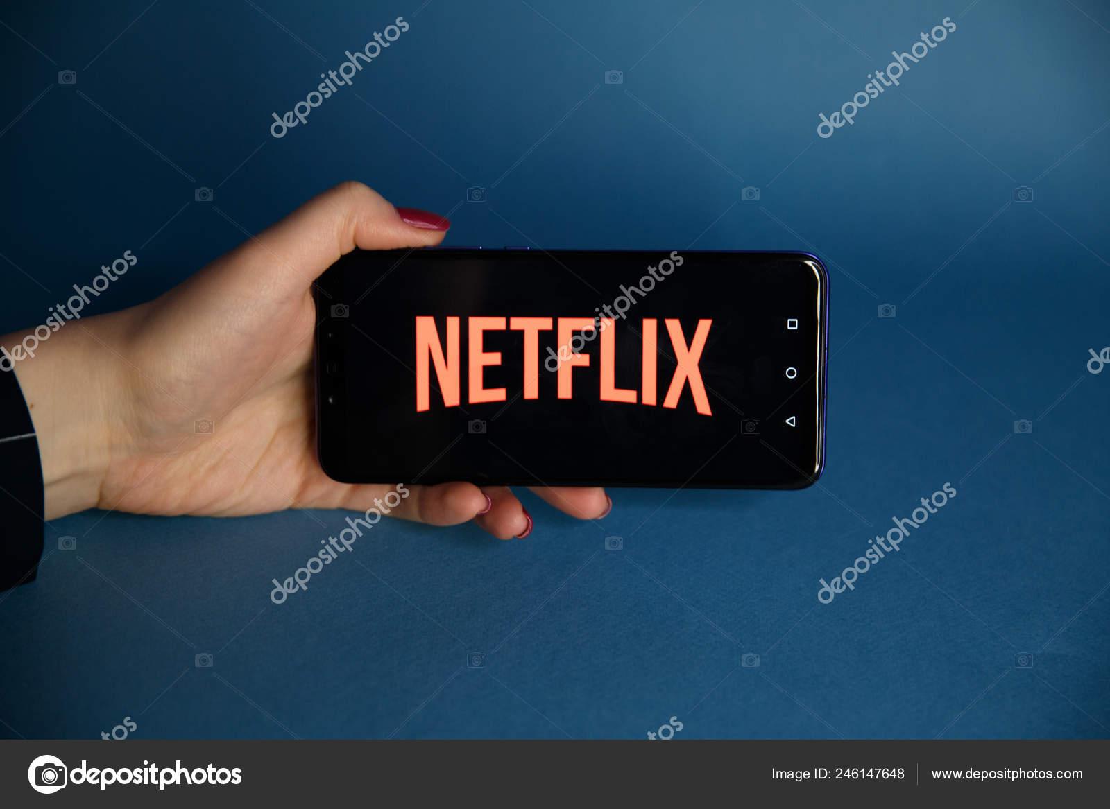 Tula, Russia - JANUARY 29, 2019: Close up Netflix app icon