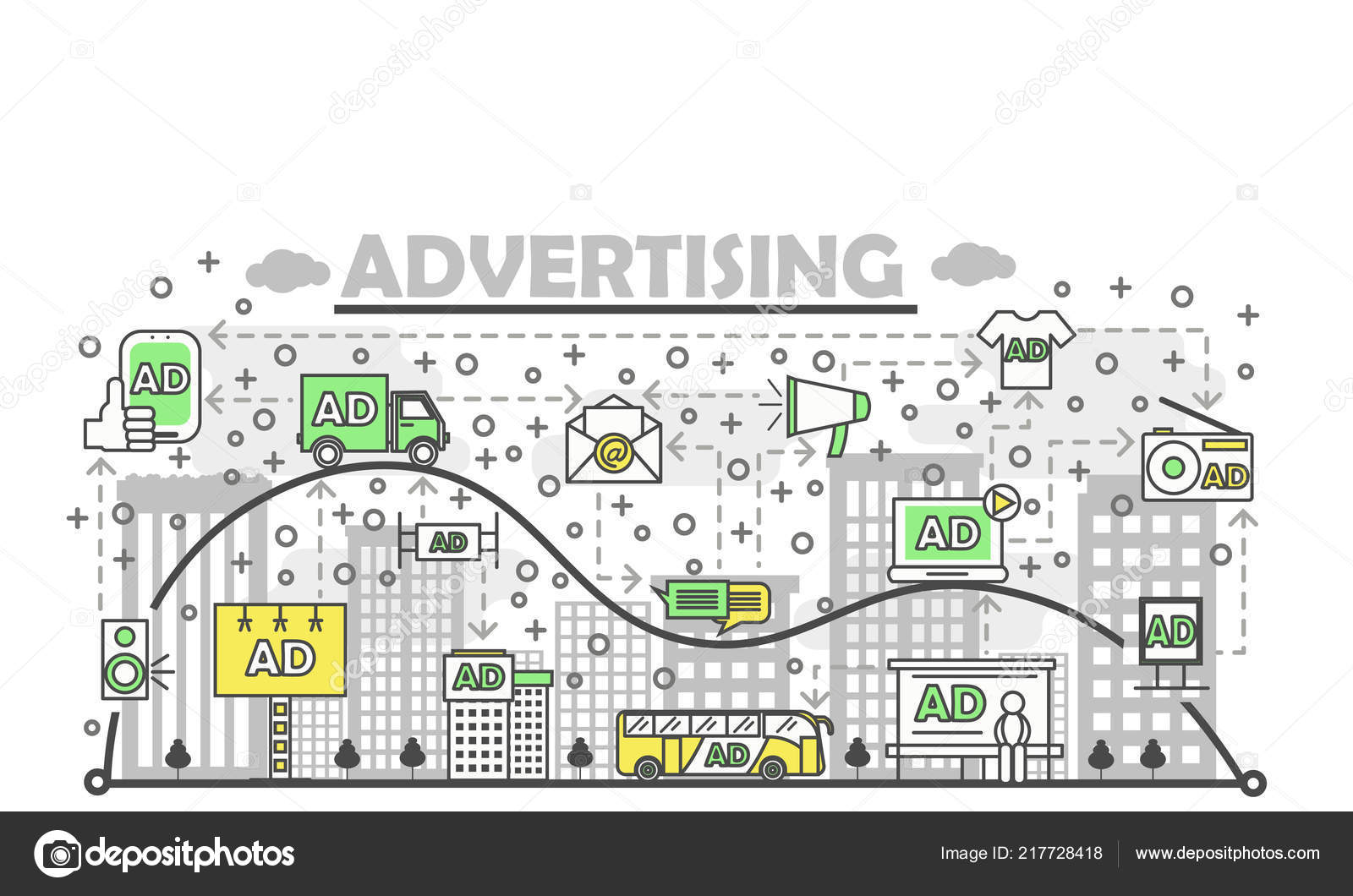 Creative Advertising Marketing Concept or Product Promotion Vector