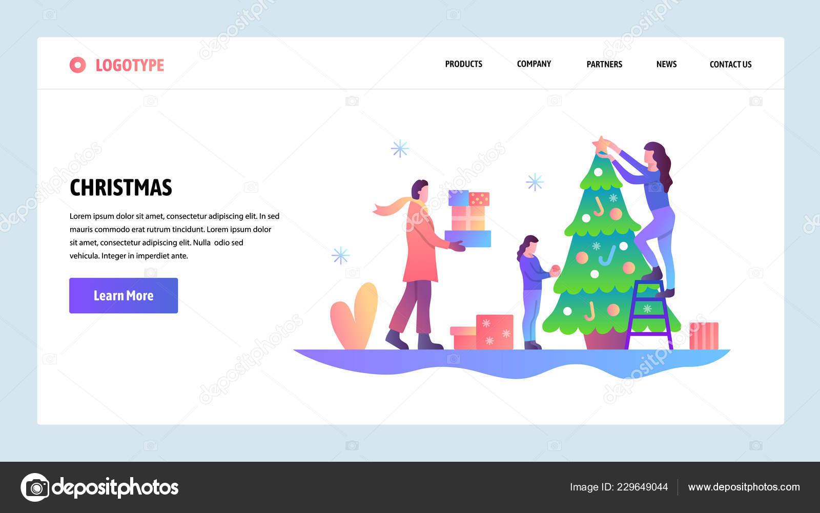Un Bon Menu De Noel.Site Web Onboarding Ecrans Helene Decorer Le Sapin De Noel