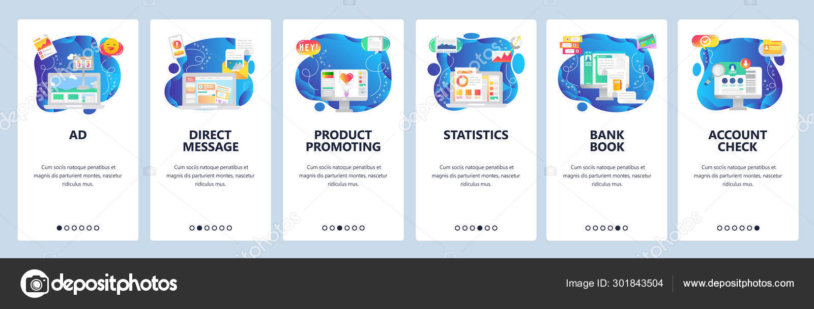 Mobile app onboarding screens. Marketing and advertisement Pertaining To Mobile Book Report Template