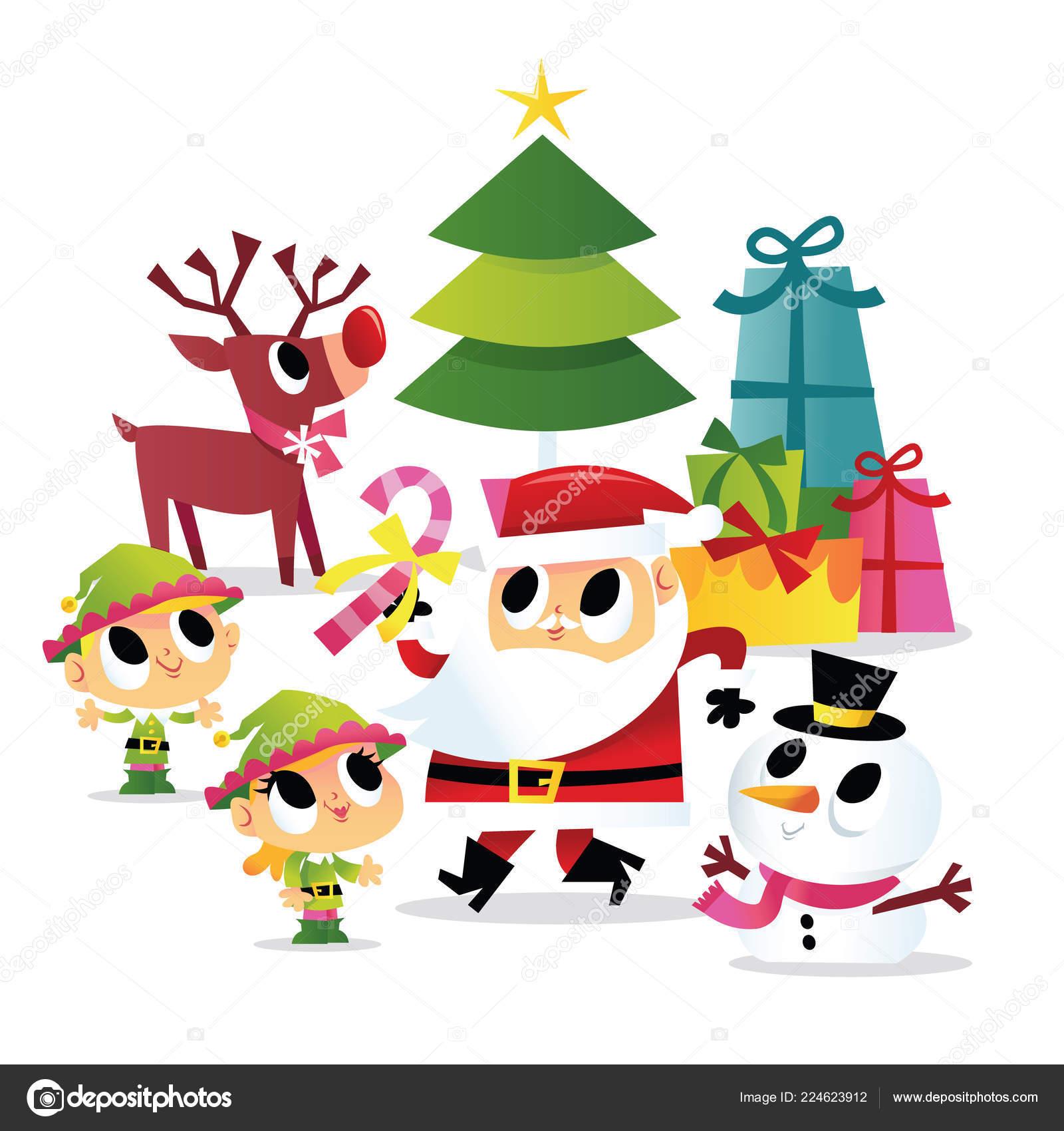 Weihnachtsfeier Cartoon.Eine Cartoon Vektor Illustration Von Super Süße Cartoon