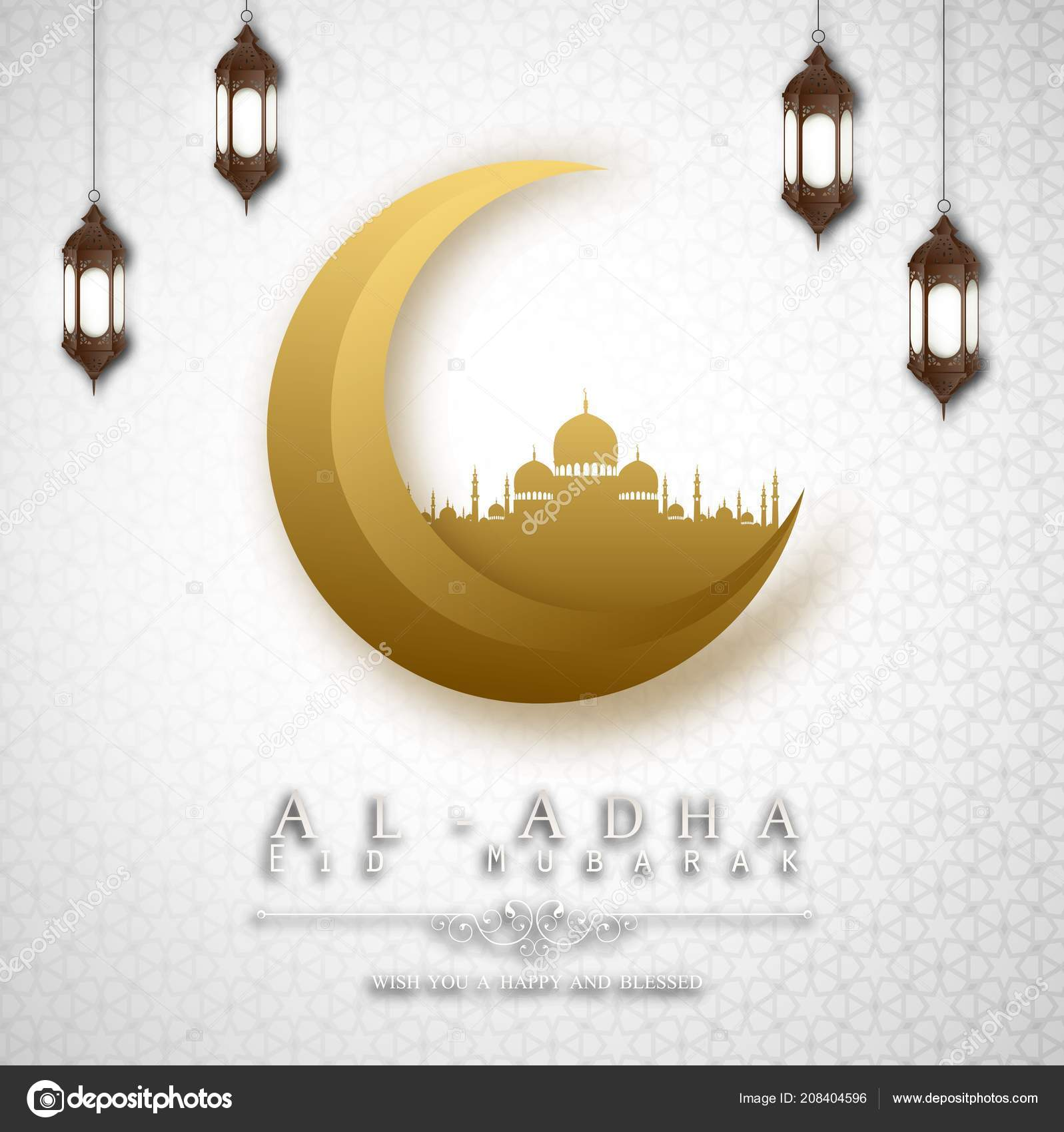 vector illustration happy new hijri year islamic new year greeting stock vector