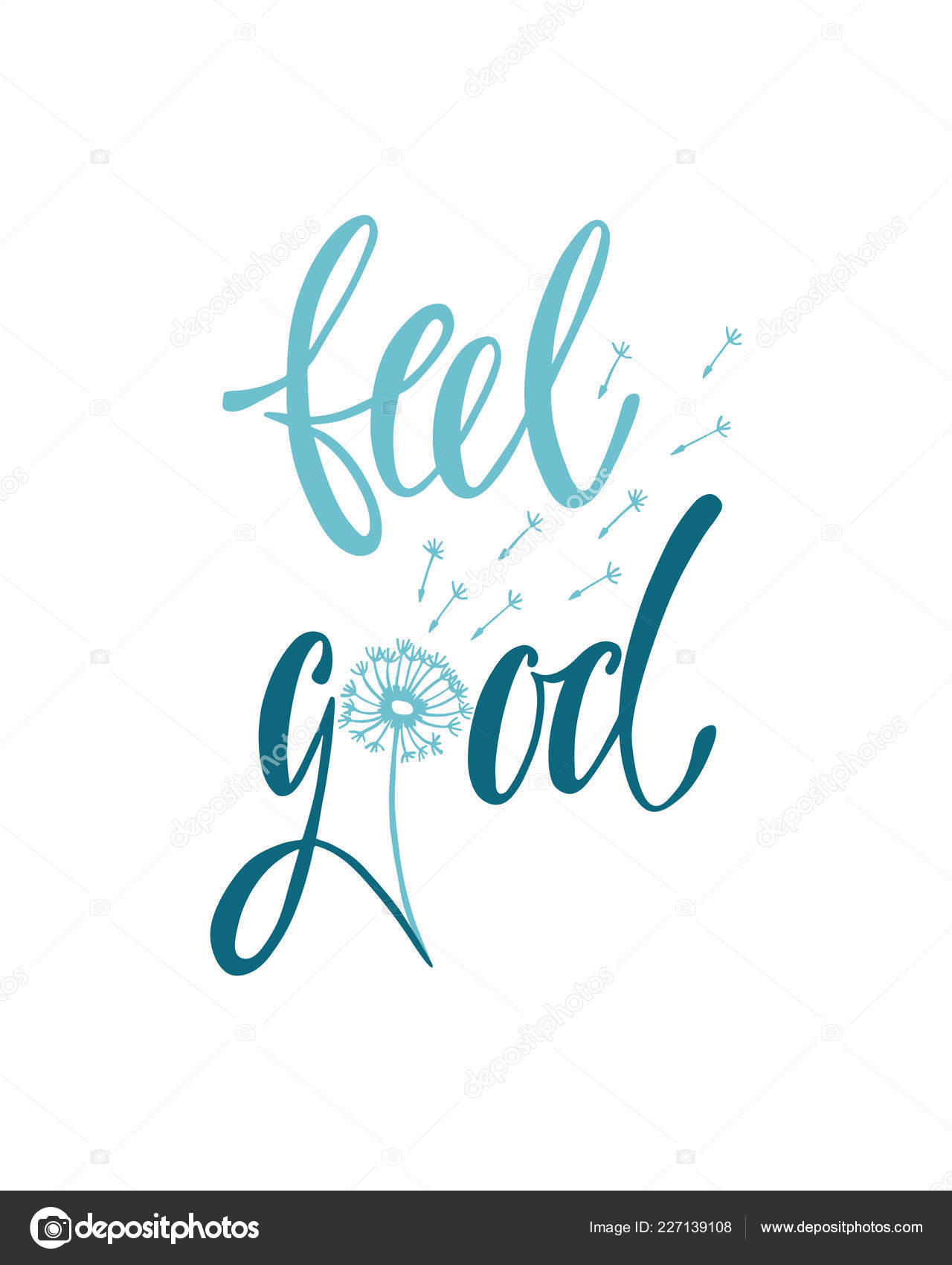 Feel good. Inspirational quote about happiness — Stock Vector