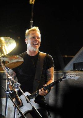 RIO DE JANEIRO, September 11, 2011 - Singer James Hetfield Metallica group show during the Rock in Rio in Rio de Janeiro