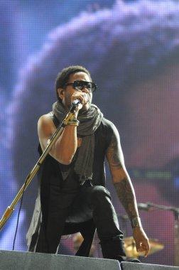 RIO DE JANEIRO, September 11, 2011 - Singer Lenny Kravitz show during the Rock in Rio in Rio de Janeiro
