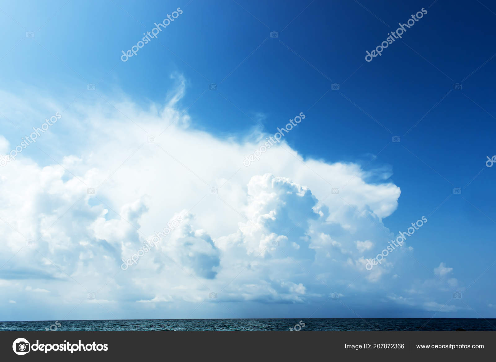 blue sky with clouds over the sea, wallpapers, seascape, background