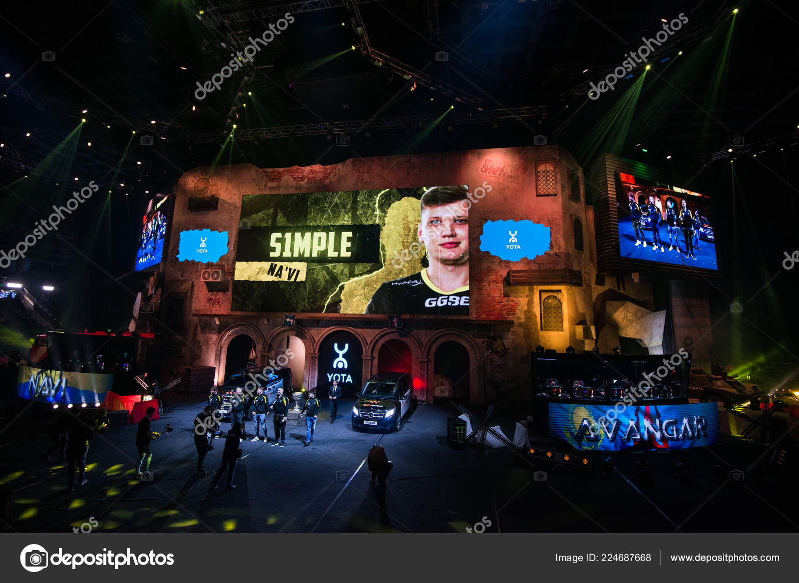MOSCOW, RUSSIA - OCTOBER 27 2018: EPICENTER Counter Strike: Global