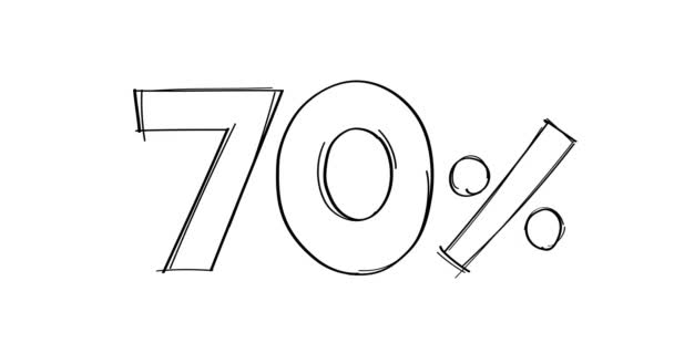 70 Prozent handgezeichnete Doodle-Linie animiert.