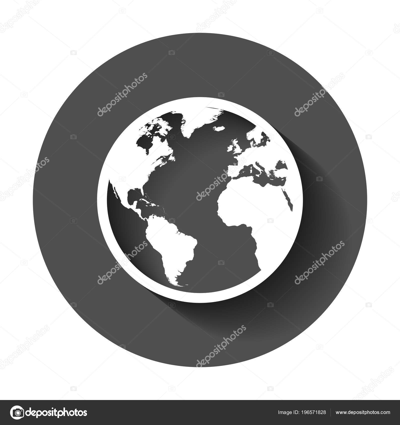Globe world map vector icon earth flat vector illustration planet globe world map vector icon earth flat vector illustration planet stock vector gumiabroncs Images