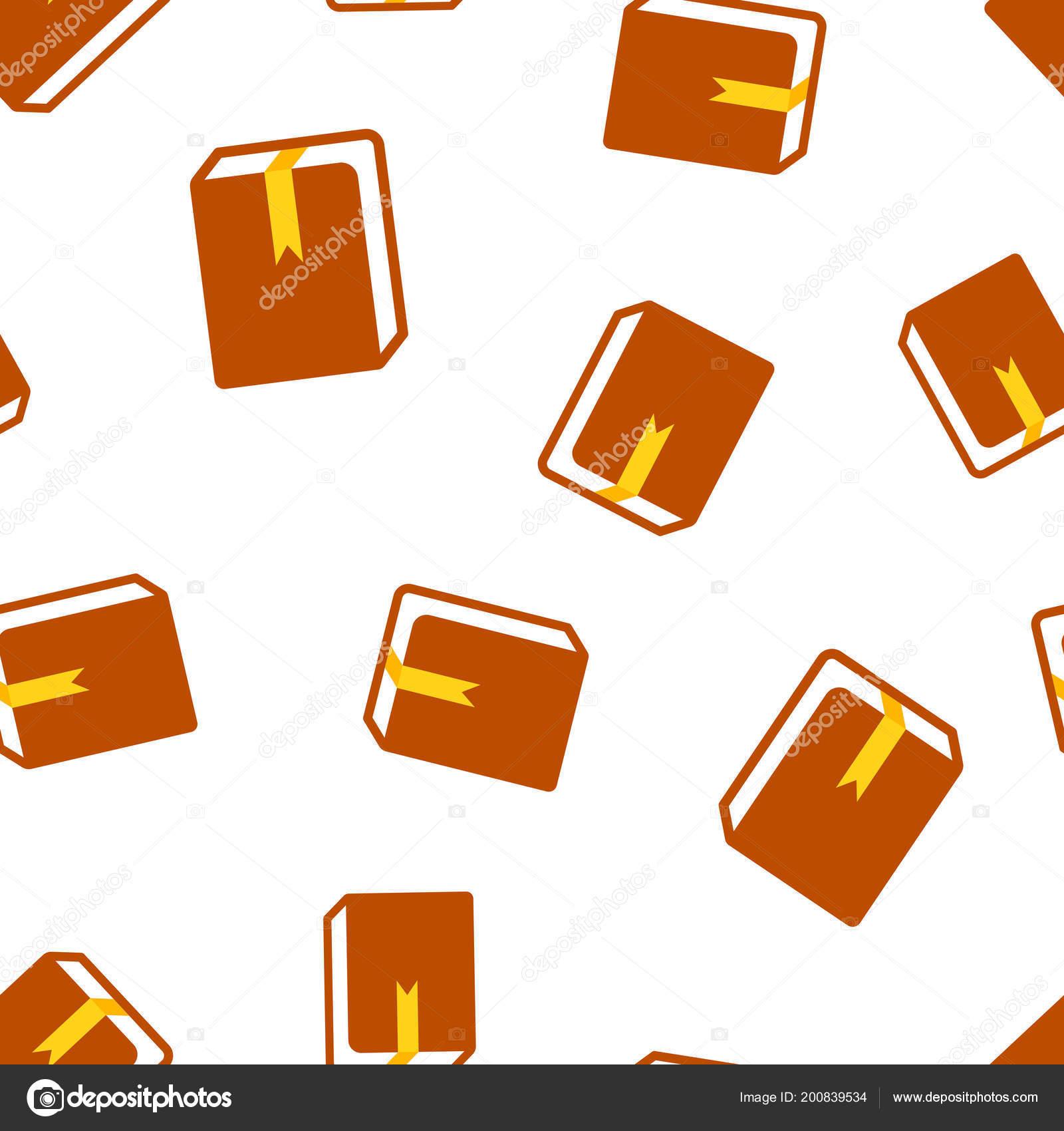 Livre Bibliotheque Icone Sans Soudure Fond Illustration