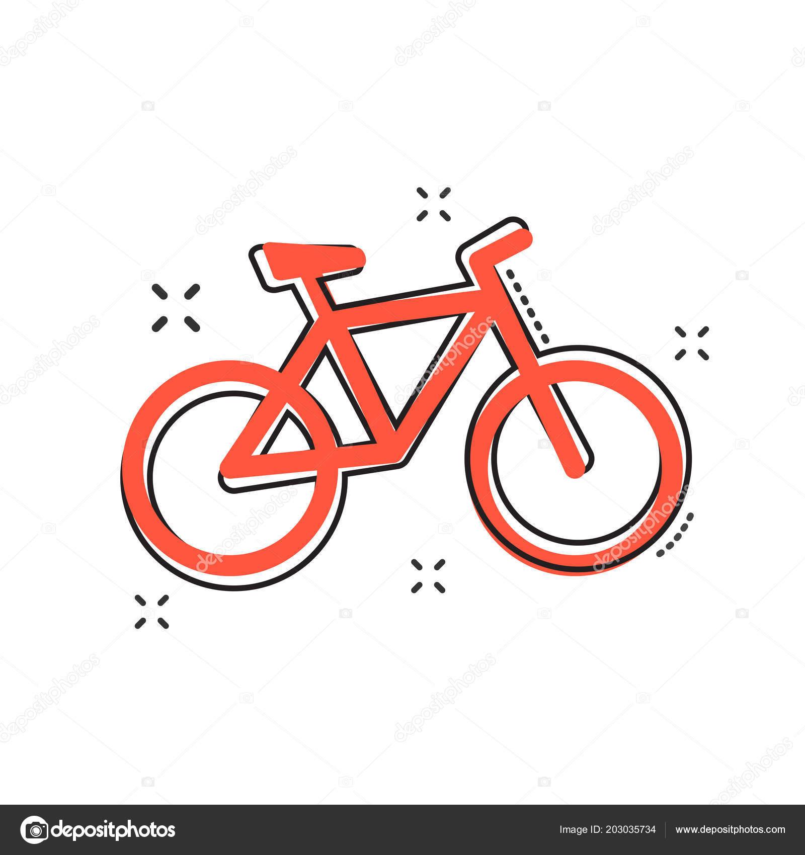 Cartoon Fahrrad Symbol Comic Stil Fahrrad Schild Abbildung