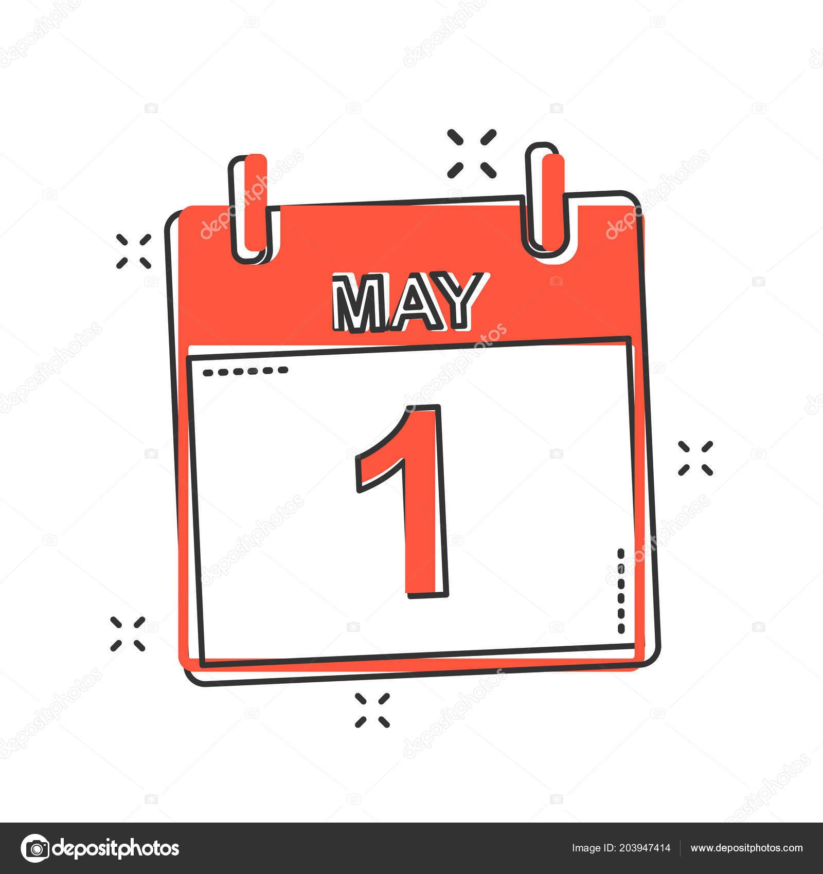 Calendario Icona.Vettore Del Fumetto Maggio Calendario Icona Stile Fumetto