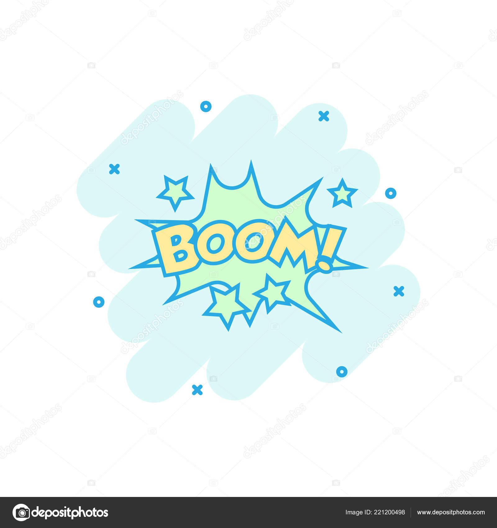 Vector Cartoon Boom Comic Sound Effects Icon Comic Style