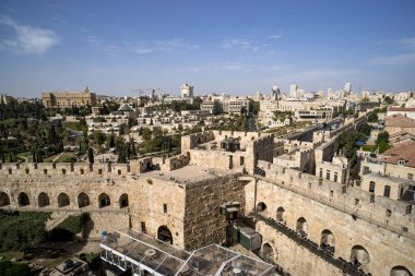 Tower of David is so named because Byzantine Christians believed the site to be the palace of King David. The current structure dates from the 1600s. Jerusalem, Israel