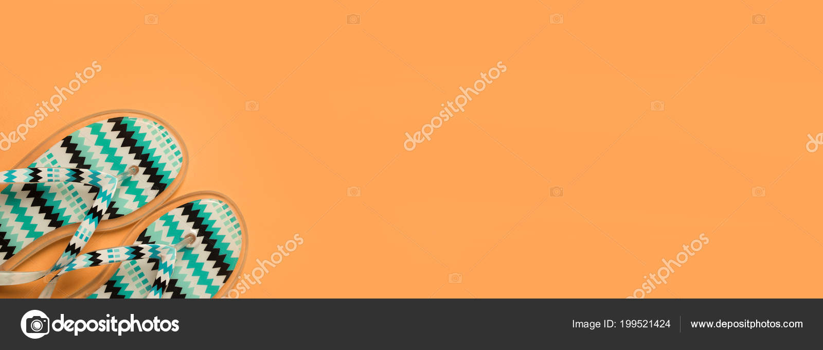 e579ac5f061e Image Beach Flip Flops Yellow Background Copy Space Summer Concept — Stock  Photo