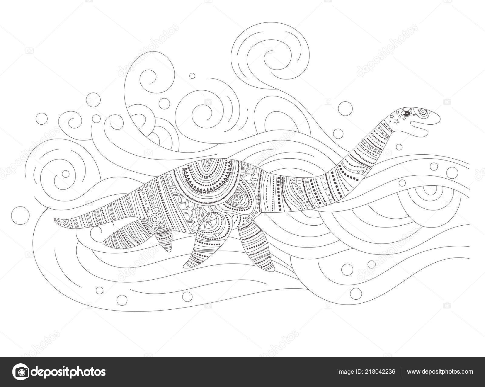 Aquatic coloring pages | Aquatic dinosaur Coloring page ...