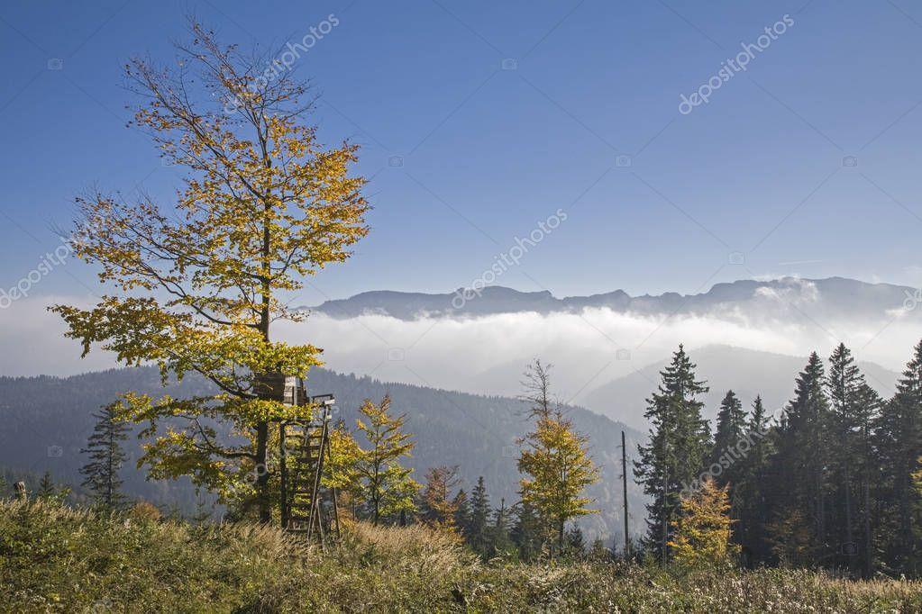 Autumn mist in the Isarwinkel