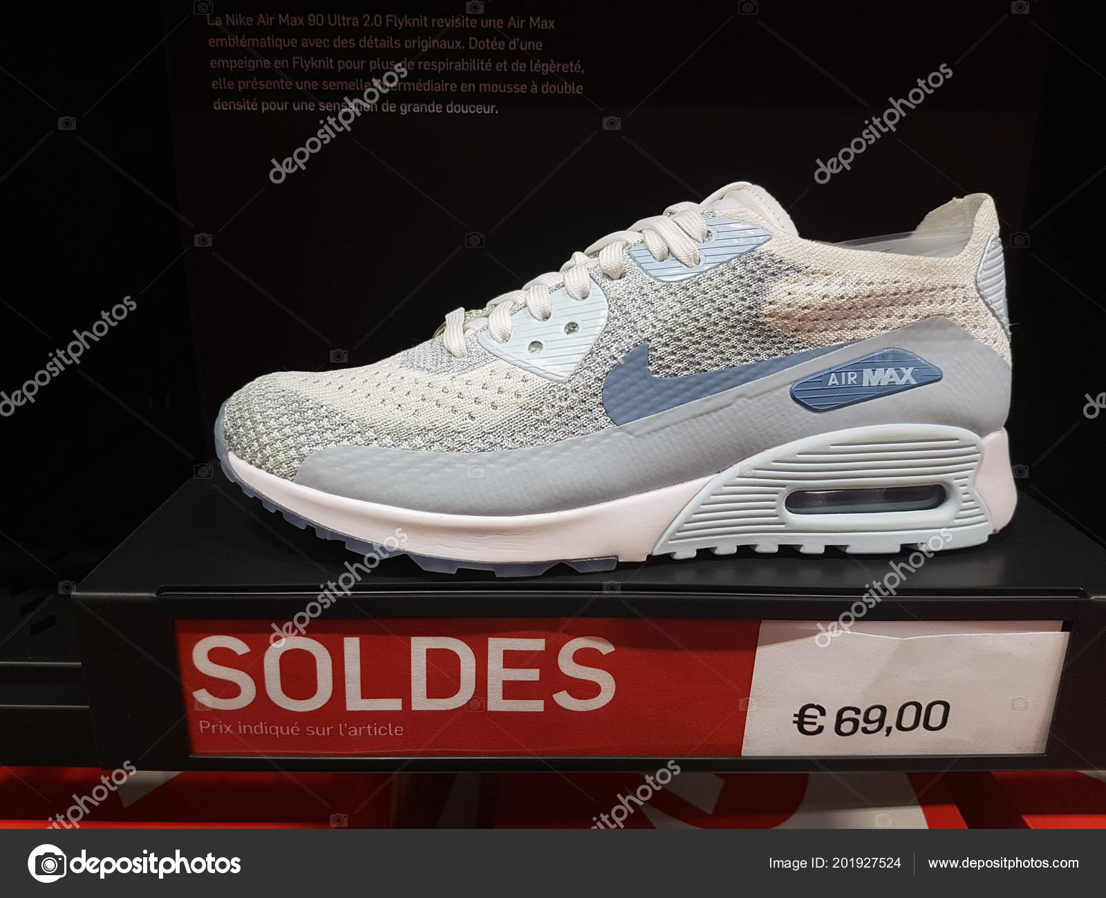 30fc0422 Villefontaine France July 2018 Multicolor Nike Air Max Shoe Display — Stock  Photo