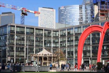Paris, France - October 16, 2018: The Red Spider (Araignee Rouge) Modern Art Sculpture By Alexander Calder In La Defense, Paris, France, Europe