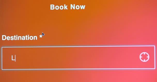 Cestu do Las Vegas Nevada Usa, letový rezervace, Online rezervaci letenek, zblízka zobrazení obrazovky monitoru počítače - Dci 4k rozlišení