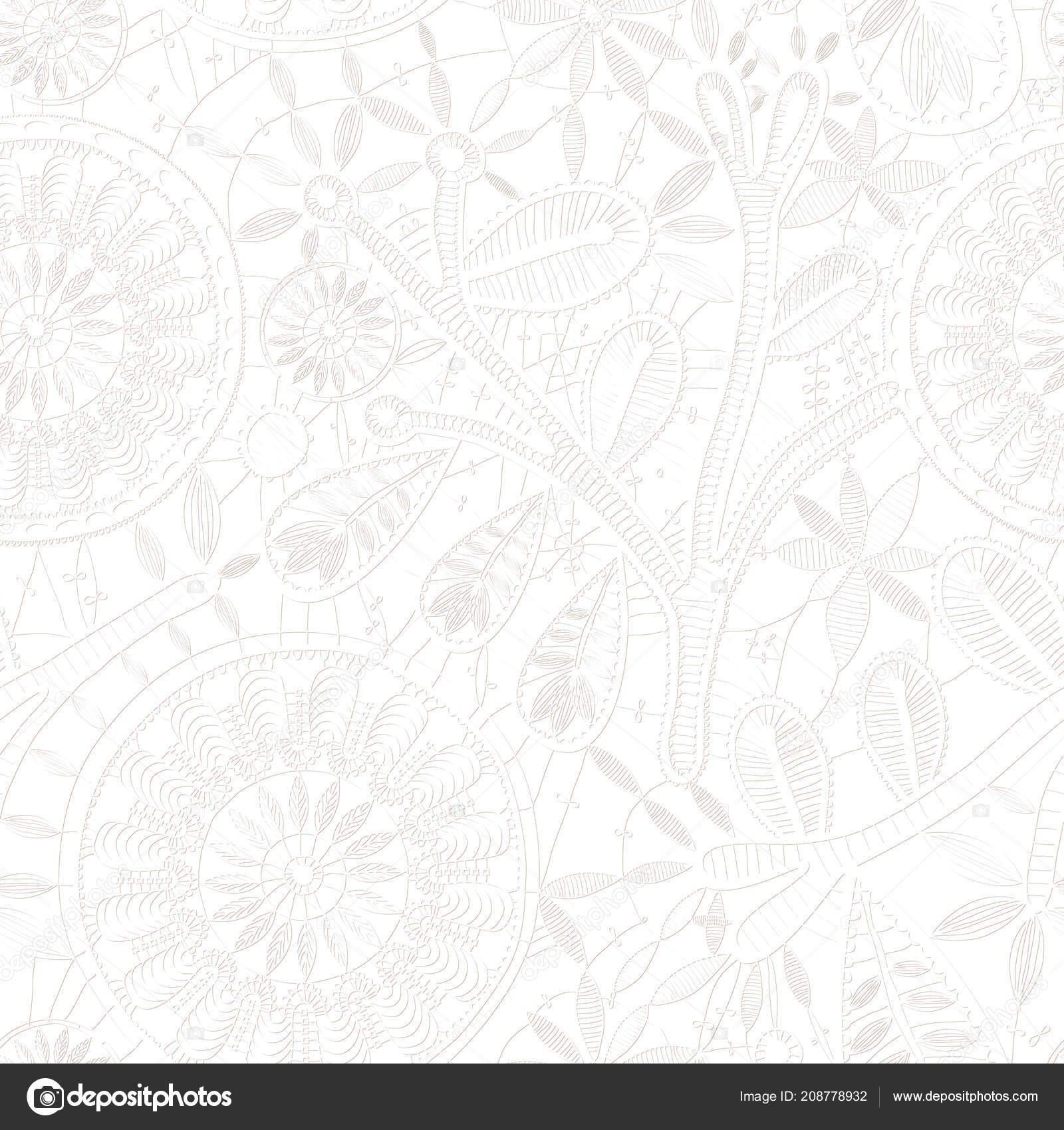 White Lace Pattern For Design Lace Seamless Pattern Craft