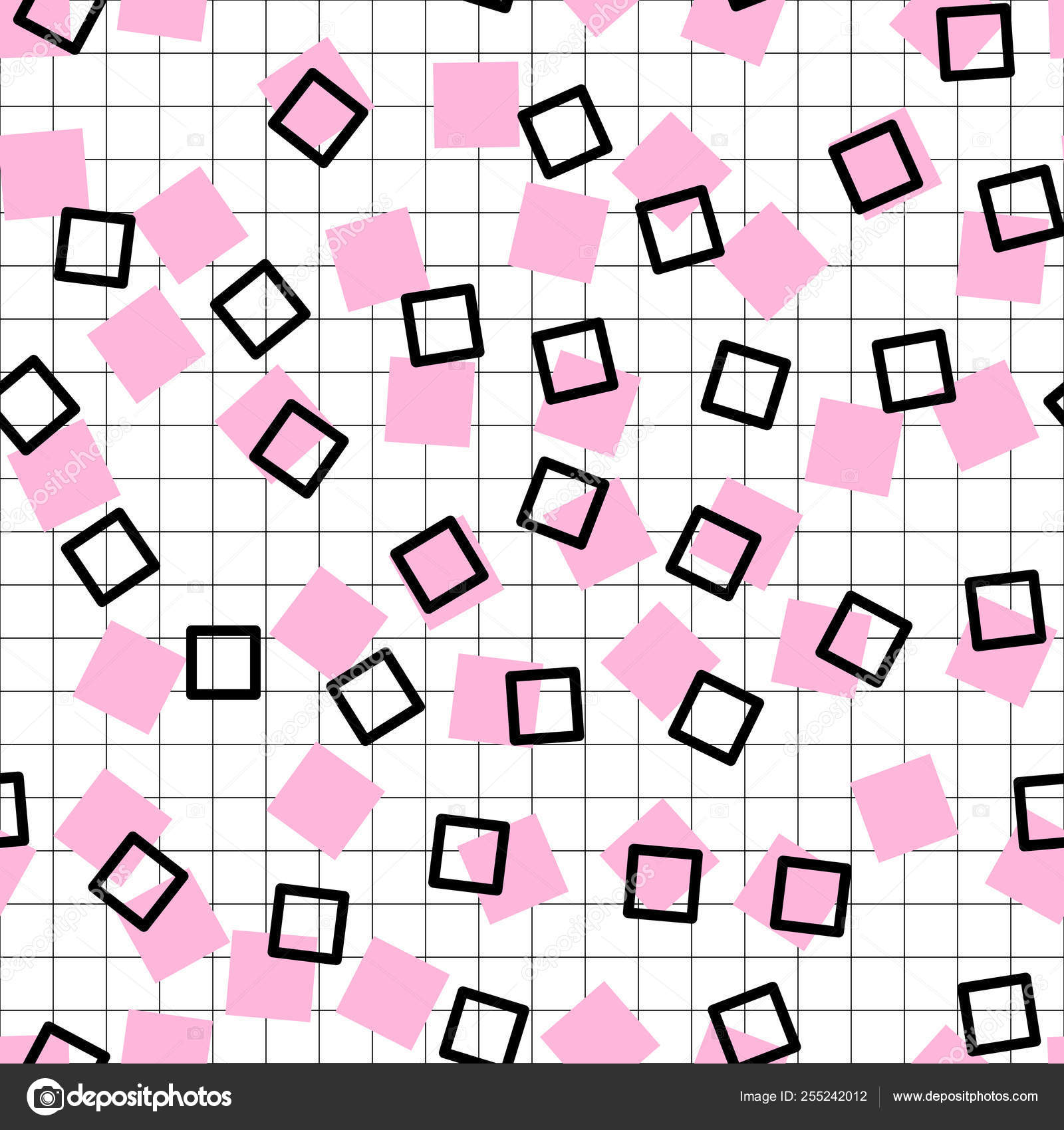 Memphis pattern background  Summer fun abstract isolated
