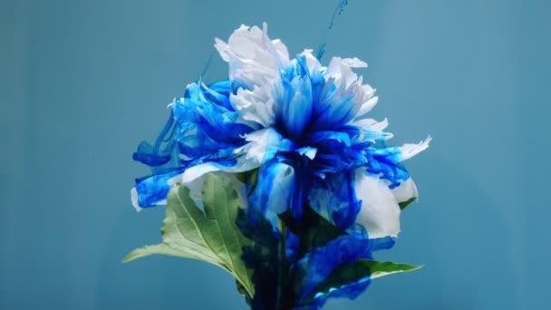 auf schöne Blumen, die Farbe gießen.
