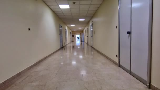 krankenhaus flur hintergrund stockvideo