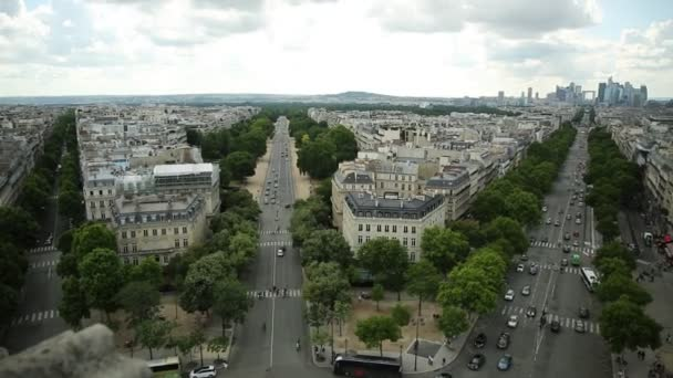 Charles de Gaulle square panorama