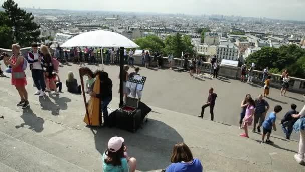 Paris Montmartre skyline