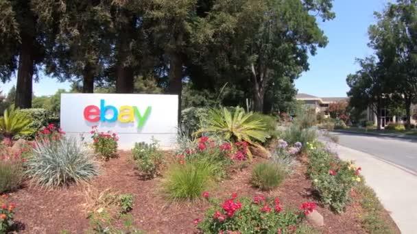San Jose California Usa August 2018 Closeup Ebay Logo Ebays Stock Video C Bennymarty 213498454