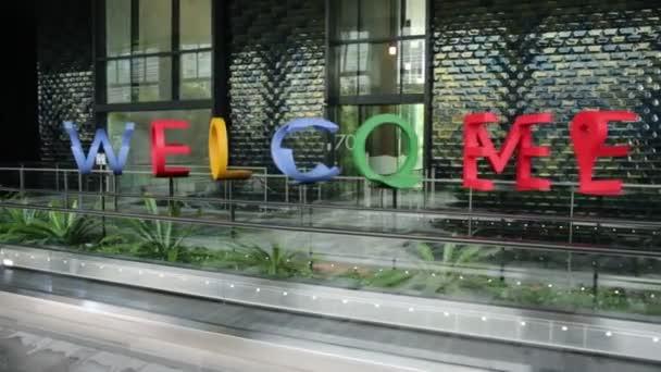 Singapur Google wellcome znamení