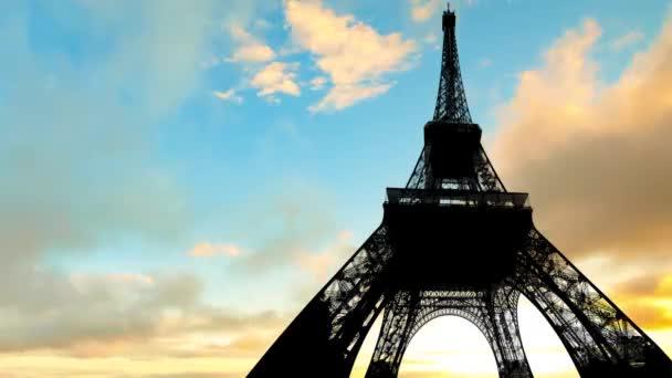 Timelapse z Paříže nebe
