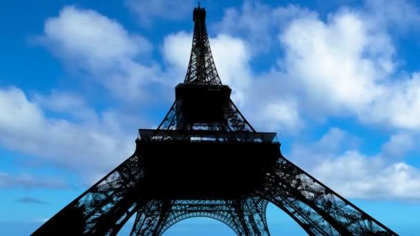 modrá obloha Eiffel Tower Time-lapse