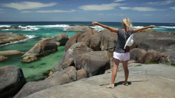 Australian woman enjoying