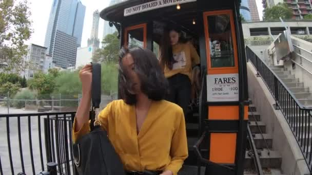 Angels Flight end ride