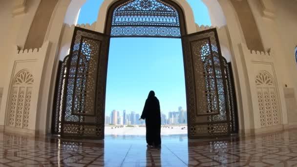 Woman at Mosque Doha