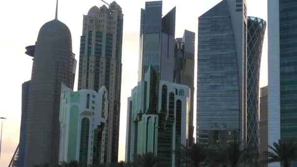 Doha West Bay reflection