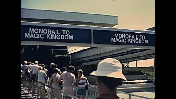 Monorail do magického království Walt Disney World