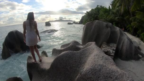 Seychellen Flitterwochen-Touristen