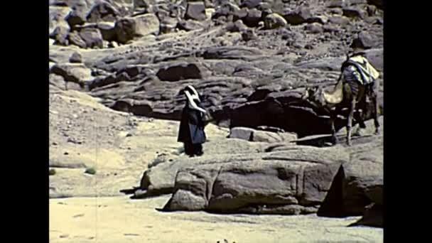 Archivbeduin mit Kamel in Ägypten