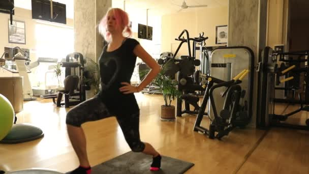 lunges exercises on the step
