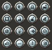 Alternativer Energie Vektor stilvollen Runde Tasten für mobile Anwendungen und web